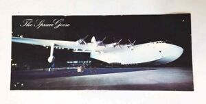 """Vintage PHOTO Postcard SPRUCE GOOSE Long Beach CA by QUEEN MARY 8-1/2"""" x 3-1/2"""""""