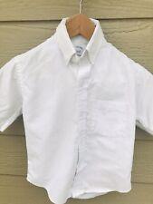 Tom Sawyer Elderwear Boys Size 6 White Short Sleeve School Uniform Shirt Top