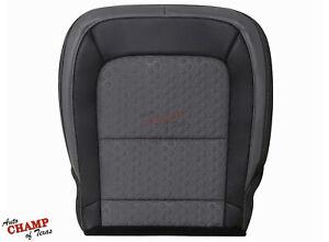 2016 2017 Chevy Colorado Z71-Driver Side Bottom Cloth Seat Cover Black/Dark Gray