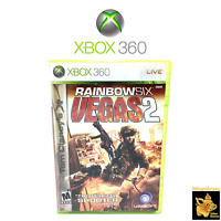 Tom Clancy's Rainbow Six: Vegas 2 Xbox 360 Game Case & Manual Disc Tested Works