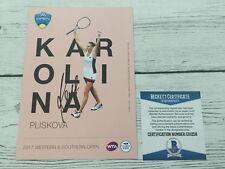 Karolina Pliskova Signed Autographed 5x7 W&S Card Beckett BAS COA a