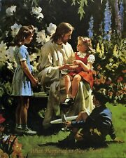 "Catholic print picture -  JESUS WITH CHILDREN 2  -   8"" x 10"" ready to be framed"