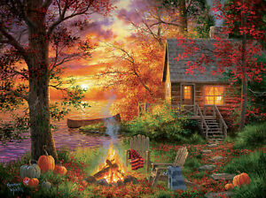 300 Piece Puzzle by SunsOut Sunset Serenity Art by Abraham Hunter 2020 Made in t
