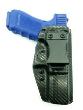 Kydex Holster fits Glock 17,19, 22, 23 and 31 IWB Right Hand Draw Carbon Fiber
