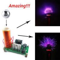 Mini Tesla Coil Plasma Speaker Electronic Kit 15W W/ Stainless Ball Test DIY Set