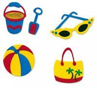 Beach #3 Sizzix Sizzlits Die Set 655303 NEW! Ball Bucket Glasses