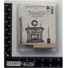 Stampin' Up! Rubber Stamps FIRESIDE CHRISTMAS FIREPLACE GREETINGS STOCKINGS