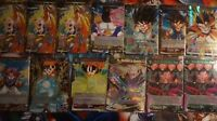 DRAGON BALL SUPER 100 CARD LOT BLUE/GREEN/YELLOW/RED/BLACK CARDS! FAST SHIPPING!