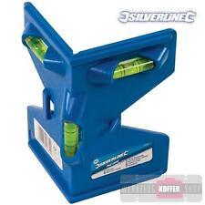 Pfosten-Winkel-Wasserwaage 90° + 180° mit 4 Magneten u. Gummiband zum Ausrichten