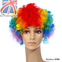 12 Color Rizado Disfraz Afro Funky Peluca Disco Payaso Hombre para Mujer JF001