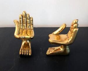 Two Hand Foot Sculptures by Pedro Friedeberg