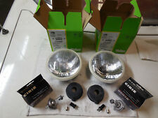 "Cibie 5 3/4"" E-code headlamps w/city light (pair). Genuine, including H4 bulbs"