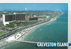 Postcard Texas TX Galveston Island Beach Seawall Blvd MINT Unused