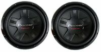 2 Pioneer 12 Inch 2800W Subwoofers Car Audio 4-Ohm DVC Subs Pair   TS-W311D4