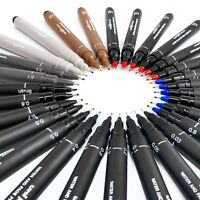 12 x Uni Ball Pin Drawing Pen Fineliner Ultra Fine Line Marker - in 5 Colours