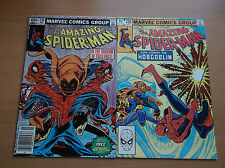 MARVEL: AMAZING SPIDER-MAN #238 + 239, 1st APP HOBGOBLIN NO TATTOOZ, KEY, 1982!!