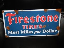 Antique style vintage look Firestone dealer sales and service sign NICE