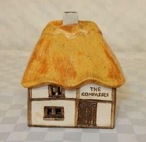 Vintage Odonoghue Pottery Rye Thatched Cottage Lidded Box