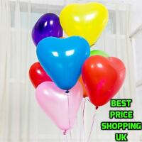 50 PACK Heart Shaped Balloons Birthday/Wedding Party & Decorations Love/Romantic