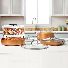 Pots And Pans Set Pan Frying Fry Copper Cooking Heavy Duty 8 Piece Oil French Co