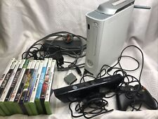 Xbox 360 White Console With Hard Drive Kinnect 12 Games One Pad Wifi Booster