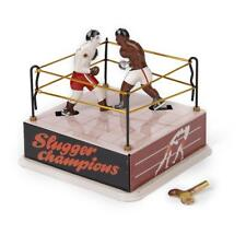 Vintage Wind up Boxing Ring w/ Two Boxers Clockwork Home Decor Creative Gift