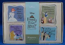 Disney Hallmark Happily Ever After Princess Ceramic Magnet Set of 4 NIB