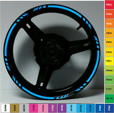 BLUE 3M REFLECTIVE MOTORCYCLE RIM STRIPES WHEEL DECALS TAPE STICKERS 17 INCH CAR