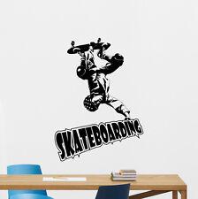 Skateboarding Wall Decal Extreme Sport Vinyl Sticker Gym Decor Art Mural 59hor