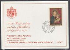 Liechtenstein Scott 542 Maxim Card - Christmas 1973