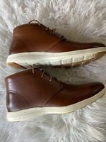 New Cole Haan Grand Tour Chukka C29589 Men's Size 10.5 Brown Ivory Leather Boots