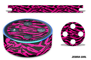 Skin Decal Wrap for the Amazon Echo Dot 2nd Gen Alexa Graphics Stickers ZEBRA