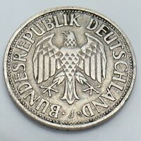 1950 Germany 1 One Deutsche Mark Circulated German Coin E874