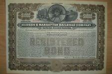 Hudson & Manhattan Railroad Company  1000$ Bond