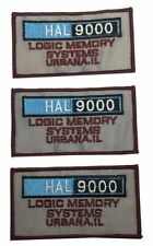 "20001 A Space Odyssey Hal 9000 Logic 4"" Wide Embroidered Iron on Patch Set of 3"