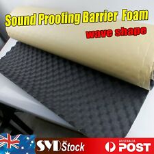 Wave Sound Proofing Foam Insulation Noisy Control Barrier Absorption Area 16sqft