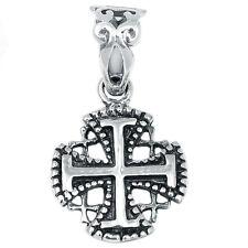 Jerusalem Cross 925 Sterling Silver Pendant Plain Design Jewelry AAASPJ2040
