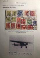 1927 Amsterdam Netherlands First Round Flight PC Cover To Batavia Dutch Indies