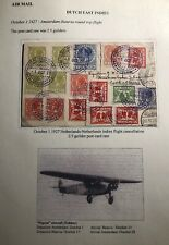1927 Amsterdam Netherlands First Round Flight PC Cover To Batavia Dutch Indies