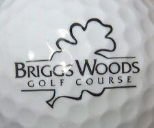 (1)  BRIGGS WOODS GOLF COURSE LOGO GOLF BALL