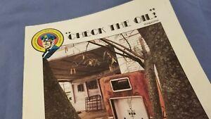 VINTAGE WALT DISNEY SUNOCO MICKEY DONALD DUCK MOTOR OIL PUMP PLATE RARE SIGN