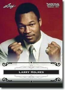 "LARRY HOLMES 2012 LEAF ""EXCLUSIVE"" COLLECTORS HALL OF FAME PROMO CARD! LEGEND!"