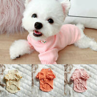 Sweet Ruffles Dog Clothes Puppy Cat Puff Sleeve Shirt Pullover Pet Warm Clothing