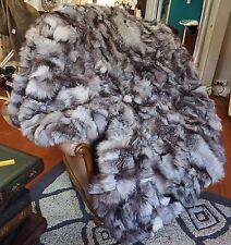 Fox Fur Throw - GENUINE SILVER FOX - NATURALLY BEAUTIFUL -   1800mm x 1600mm