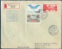 SWITZERLAND TO MOROCCO Cover 1938 FANTASTIC POSTAGE VF