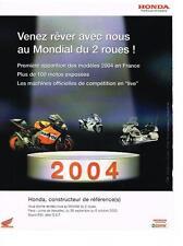 PUBLICITE ADVERTISING  2004   HONDA    MONDIAL 2 ROUES
