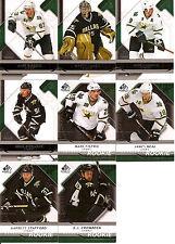 2008-09 UD Upper Deck SP Game Used Dallas Stars Team Set w/ RC's (8)
