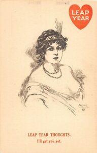 F77/ 6 Six Leap Year Pretty Woman G. Reiter Brill Artist Signed c1910