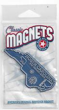 """ THE TARHEEL STATE""    NORTH CAROLINA   OUTLINE MAP MAGNET in Souvenir Bag, NEW"