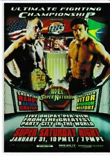 UFC 46 Vitor Belfort vs. Randy Couture 2010 Topps UFC Main Event Fight Poster
